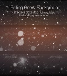 Falling Snow Collection — Photoshop PSD #snow #snowfall • Available here → https://graphicriver.net/item/falling-snow-collection/6807251?ref=pxcr