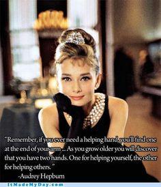 My favorite Audrey Hepburn quote