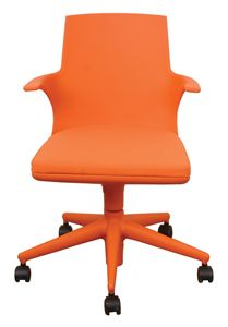 kartell spoon chair in orange