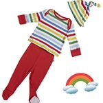 Piccalilly Rainbow Stripe Baby Set #OrganicBabyClothes #OrganicChildrensClothes