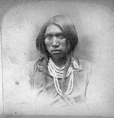 Paiute man - circa 1870