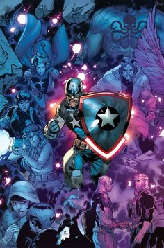 Captain America Steve Rogers #16 Cover B Variant RB Silva Connecting A Cover (Secret Empire Prelude)