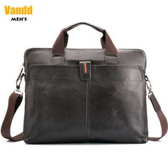 "Aliexpress.com : Buy Vandd Men's Genuine Leather Brown Briefcase Tote Handbag 14"" Laptop Shoulder Messsenger Zipper from Reliable computer bag suppliers on Vandd Men. $88.00"