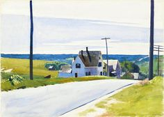 Edward Hopper (1882 — 1967, USA) High Road. 1931 watercolor on paper. 20 × 27 15/16 in. (50.8 × 71 cm.)