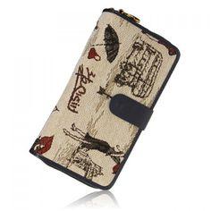 Retro Zipper and Drawing Design Women's Wallet, CYAN in Women's Wallets | DressLily.com