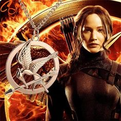 Encantos de la aleación de Aves Flecha Película Hunger Games 1 Colgante de Collar de La Joyería Colgante, Collar de Freeshipping