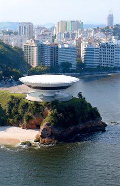 Oscar Niemeyer - Niteroi Museum of Contemporary Art near Rio de Janeiro, built in 1991