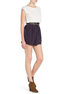 MANGO - CLOTHING - Skirts - Dapper print flared skirt
