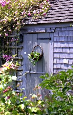 Within the garden shed awaited the seeds that would transform the borders and pathways.