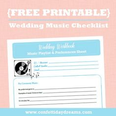 Wedding Music Workbook & Checklist