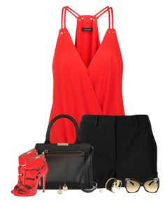 """""""Cami, Shorts & Gladiator Sandals"""" by amber-1991 ❤ liked on Polyvore featuring mode, Gareth Pugh, Victoria Beckham, Michael Kors, Ruthie Davis, Tom Ford, Rachel Zoe, Marc by Marc Jacobs, women's clothing en women"""