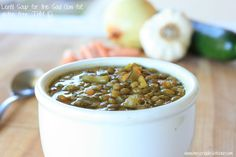 Lentil Soup for the Soul- (THM E, gluten free, low fat)