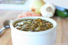 Lentil Soup for the Soul- (THM E, gluten free, low fat)