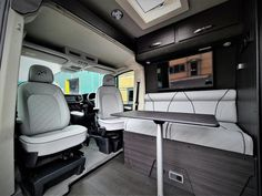 VW Crafter Sporthome - 4 Motion - Elevating Roof - Mclaren Sports Homes Ltd | Luxury Sporthome & Motorhome Conversions Van Conversion Furniture, Mercedes Sprinter 4x4 Camper, Vw Camper Conversions, Black Rhino Wheels, Vw Crafter, Airstream Trailers, Heating Systems, Van Life, Homes