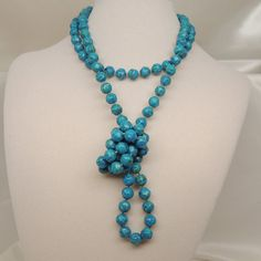 Dark Teal Vintage Necklace by DesignsbyAlladania on Etsy, $5.00