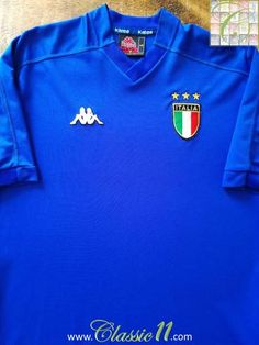 Official Kappa Italy home football shirt from the 1999 2000 international  season. Italy Football 5cec732b3