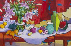 Angus Wilson - Outdoor Warmth with Lillies
