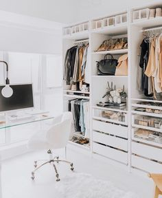 Happy Saturday Loves 💫 It's freezing outside, but this sunshine is giving me life 🙌🏼 What are you all up to this weekend? Closet Walk-in, Home Office Closet, Ikea Closet, Master Closet, Closet Ideas, Ikea Pax Wardrobe, Walk In Closet Design, Bedroom Closet Design, Closet Designs