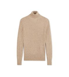 RIB CASHMERE TURTLENECK