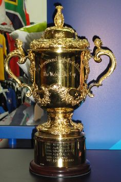 """A gold cup with two handles inscribed with """"The International Rugby Football Board"""" and """"The Web Ellis Cup"""" Rugby World Cup Trophy, Best Beaches In Ireland, Rugby Cup, Nz All Blacks, International Rugby, Rugby Games, World Cup Final, Perfume Bottles, Blog"""