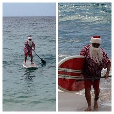 Even Santa is into the Stand Up Paddle Boarding craze! No better place to try it than on Lanai!