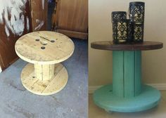 Cable spool to table