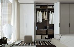 poliform wardrobe | new entry | master bath closet
