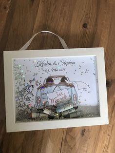 Glitter Picture Frames, Wedding Picture Frames, Glitter Pictures, Glitter Photo, Glitter Car, Wedding Themes, Wedding Favors, Wedding Gifts, Easy Crafts