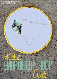 Kite Embroidery Hoop