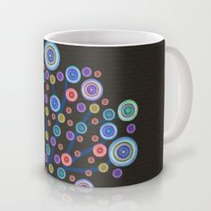 psychedelic tree  Mug by Viviana González - $16.00