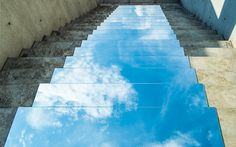stairs that make it look as though you're walking up into the clouds