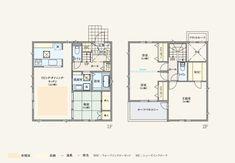 間取り例│注文住宅・一戸建て Craftsman Floor Plans, One Bed, House Plans, Loft, Cabin, Flooring, How To Plan, Mansions, Luxury