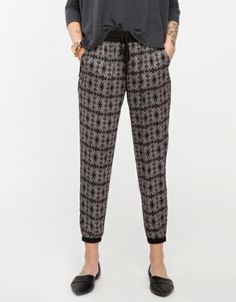 Lightweight, sport inspired trousers with an all-over psychadelic print pattern. Features a relaxed, slouchy fit with elastic cuffs and waist with drawstring closure. Crazy Pants, Harem Pants, Pajama Pants, Dear Santa, Boss Lady, Parachute Pants, Style Me, Womens Fashion, How To Wear