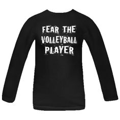 Fear The Volleyball Player Women's Black Long Sleeve T-Shirt | Volleyball Team T-shirts