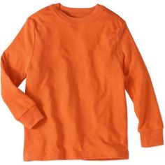 Faded Glory Boy's Long Sleeve Tee, Orange