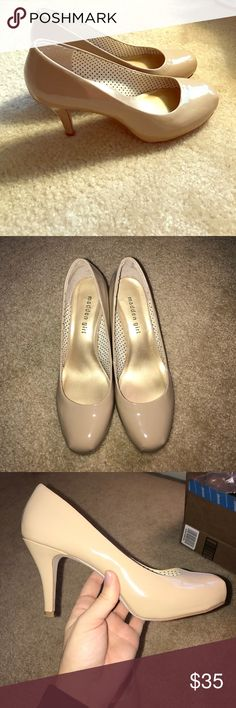 Nude madden girl heels Nude madden girl heels. About a 3'' heel. Gently worn. Size 8.5 Madden Girl Shoes Heels
