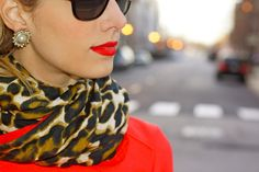 scarf + earrings