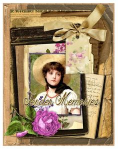 Tender Memories Vintage Collage for Journals, Cards, Crafts Digital