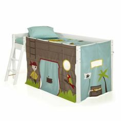 cabin bed mid sleeper pine kids bed 57 with knights. Black Bedroom Furniture Sets. Home Design Ideas