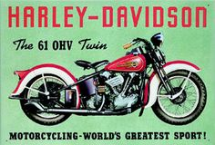 Bring a room to life and give it an interesting texture by decorating your walls with colourful retro metal signs. Vintage Harley Davidson, Harley Davidson Posters, Harley Davidson Helmets, Harley Davidson Parts, Harley Davidson Motorcycles, Indian Motorcycles, Photo Table, Motorcycle Art, Classic Bikes