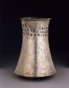 Silver Beaker with Inscription in Proto-Elamite Height 14.5 cm