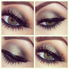 MAC's eyeshadow in Sumptuous Olive, such a gorgeous color on all skin tones! Perfect for a less dramatic smokey eye.