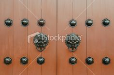 chinese ancient door Royalty Free Stock Photo