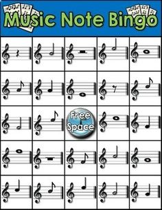 MUSIC NOTE BINGO - TeachersPayTeache...http://www.teacherspayteachers.com/Product/Music-Note-Bingo-1269006