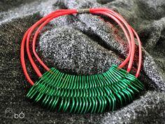 Naszyjnik przekładka neonowy w bÓ biżuteria na DaWanda.com
