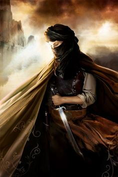 Wild Woman assassin with a long knife.  Cloaks are excellent for concealing weaponry until you get close enough to strike