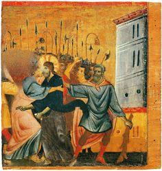 Guido da Siena - Bacio di Giuda  - ca. 1275-1280 - proveniente da Badia Ardenga - Siena, Pinacoteca nazionale