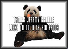 jeremy-brown-panda-gif.gif (500×365) Funny Cat Videos, Funny Cats, Funny Animals, Panda Online, Brown Panda, Panda Gif, Cat Gif, Hilarious, Pets
