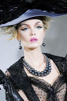 Siri Tollerød at Christian Dior Haute Couture Fall - Winter 2009/2010.