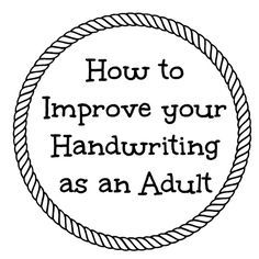 Exercises to Improve Handwriting as an Adult and Review of Fix it Write Cursive Handwriting, Improve Your Handwriting, Handwriting Practice, Penmanship, Pretty Handwriting, Handwriting Analysis, Hand Writing, Letter Writing, Writing Tips
